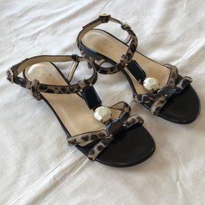 NWOT Kate Spade Animal Print Flats Sandals Size 8